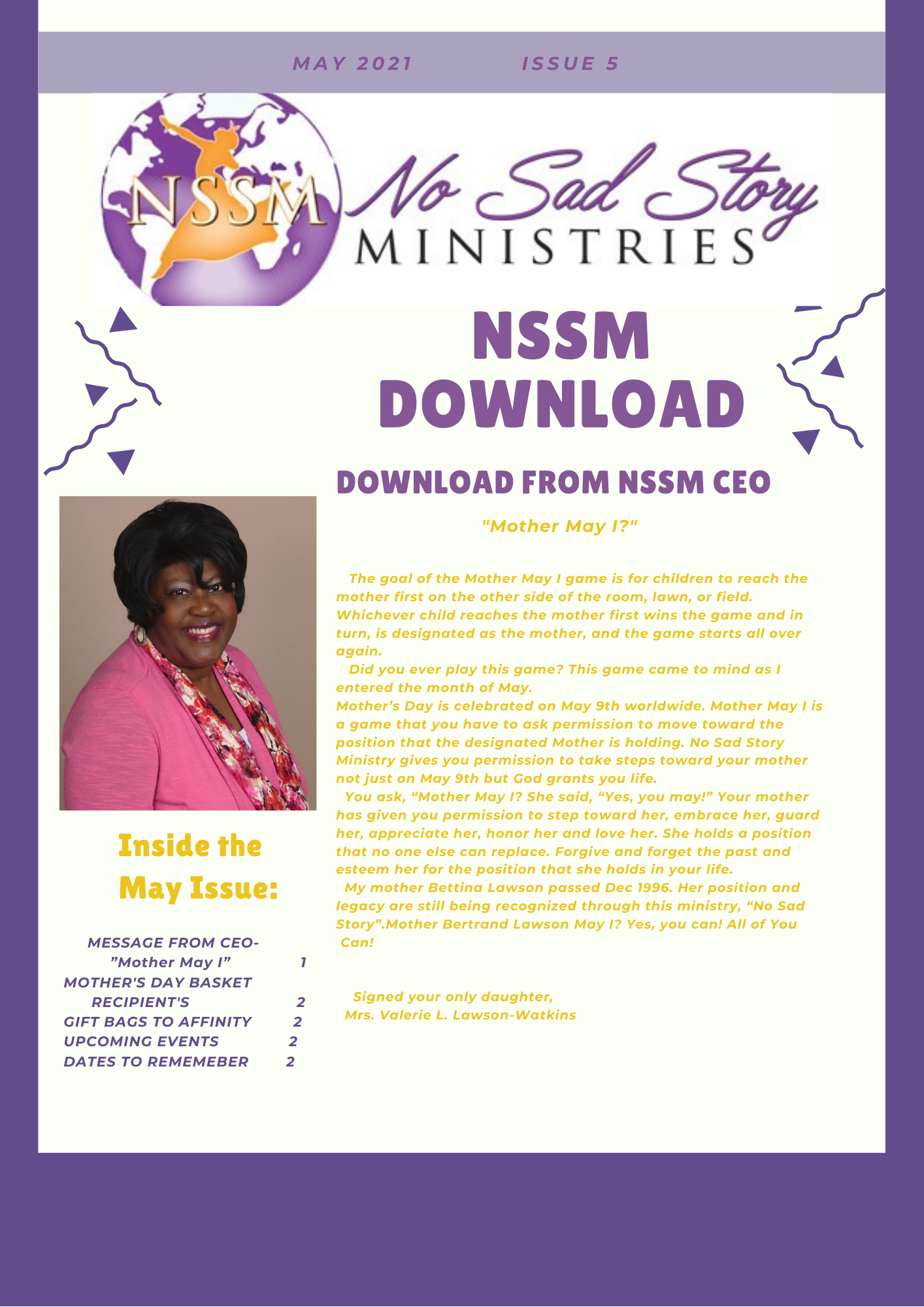 May 2021 Newsletter Page 1 of 2
