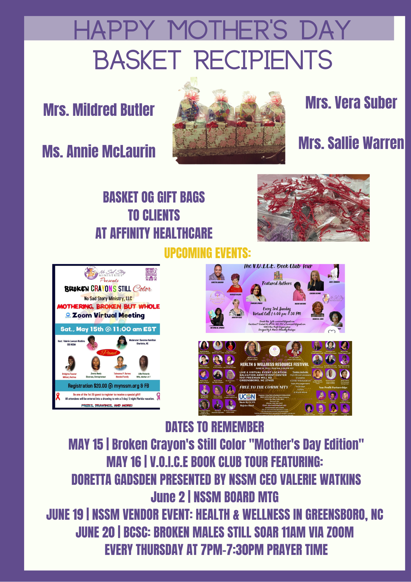 May 2021 newsletter Page 2 of 2